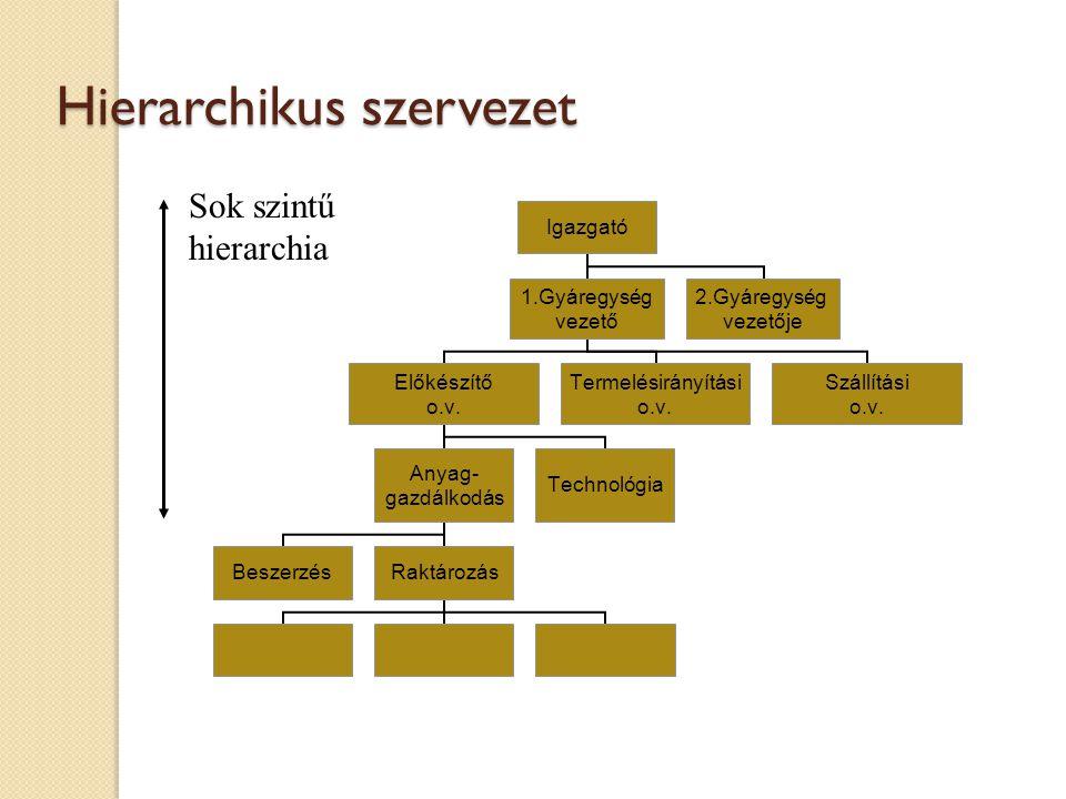 Hierarchikus szervezet
