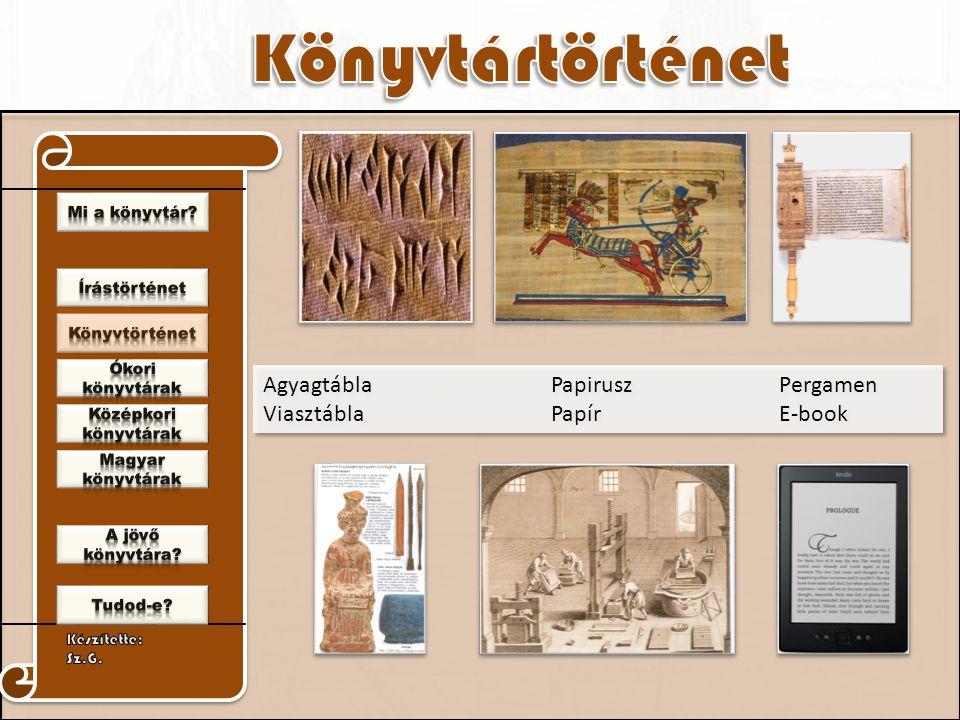Agyagtábla Papirusz Pergamen Viasztábla Papír E-book