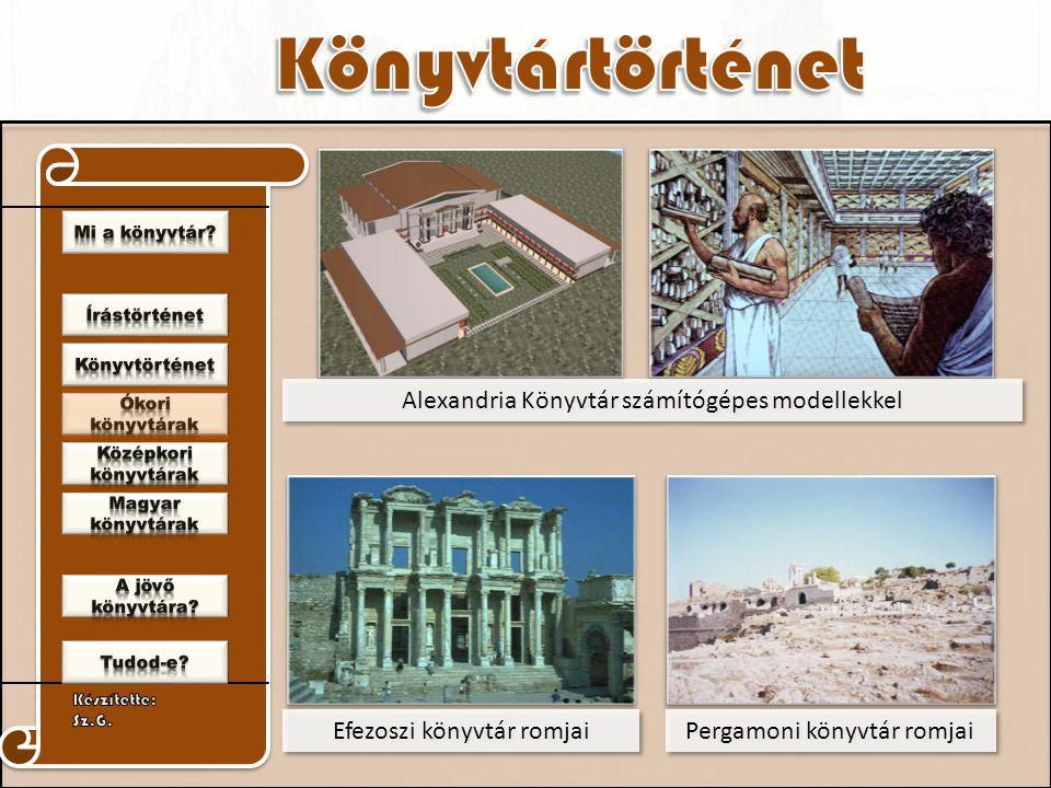 Alexandria Könyvtár számítógépes modellekkel
