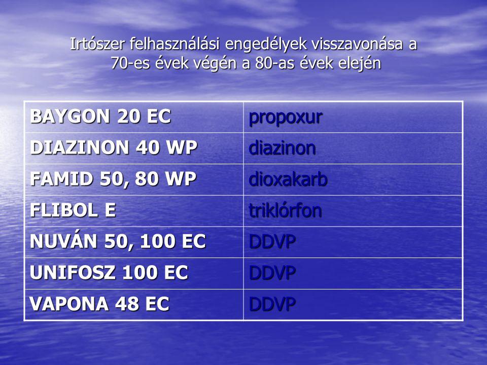 BAYGON 20 EC propoxur DIAZINON 40 WP diazinon FAMID 50, 80 WP