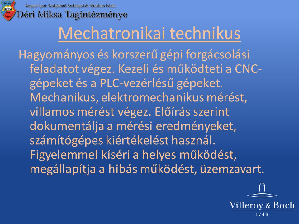 Mechatronikai technikus
