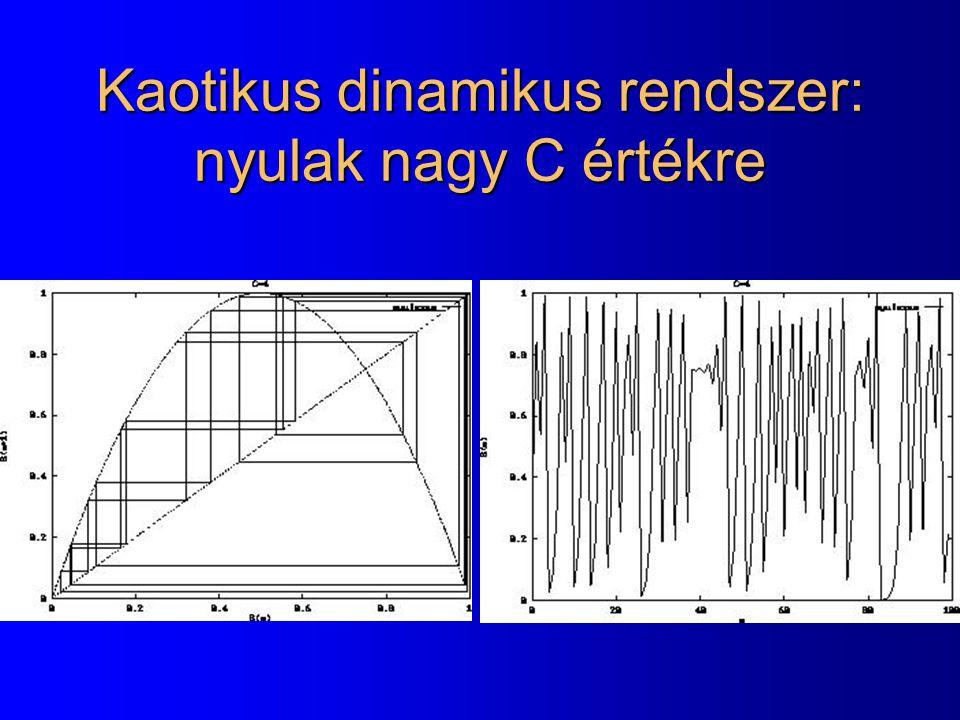 Kaotikus dinamikus rendszer: nyulak nagy C értékre