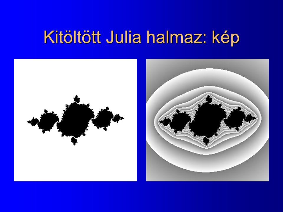 Kitöltött Julia halmaz: kép