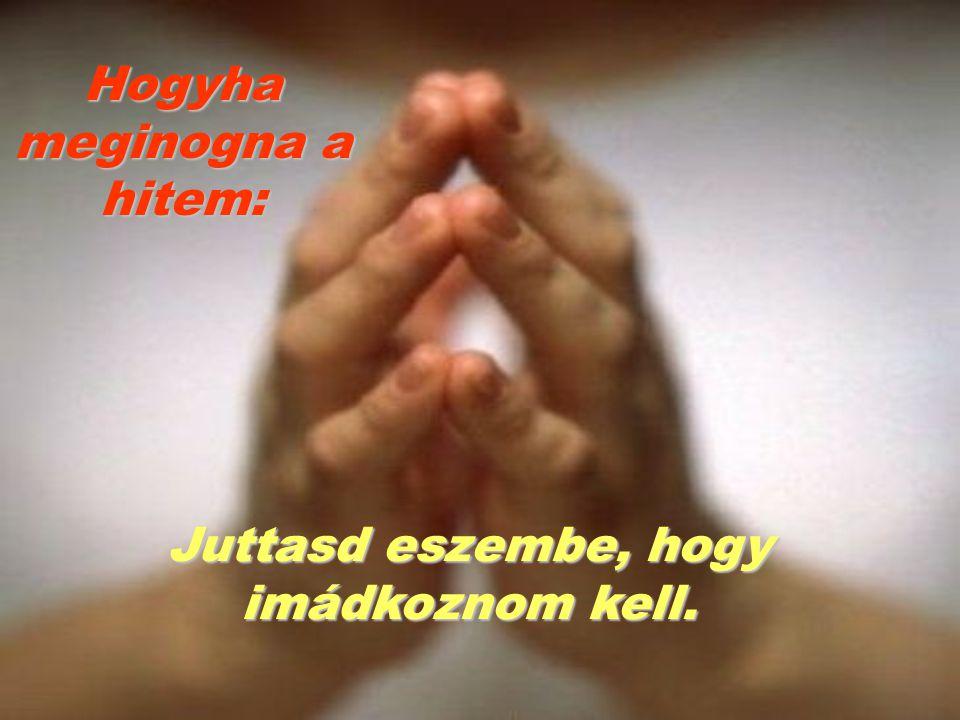 Hogyha meginogna a hitem: Juttasd eszembe, hogy imádkoznom kell.