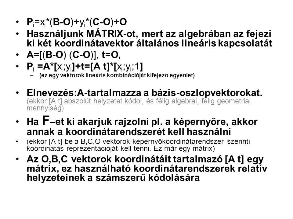 Pi=xi*(B-O)+yi*(C-O)+O
