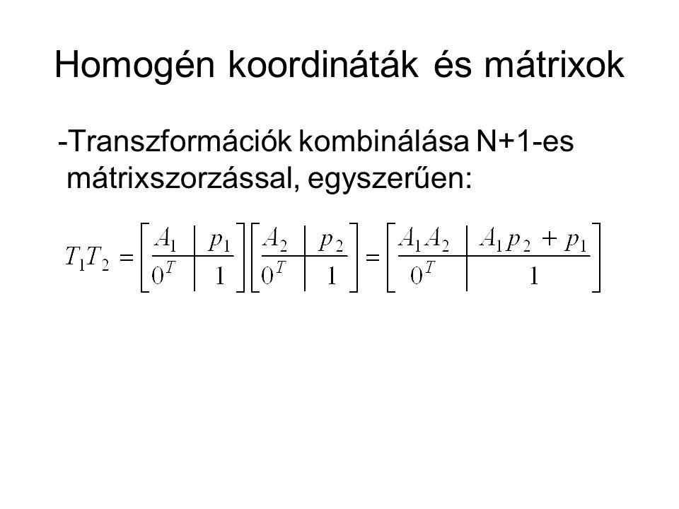 Homogén koordináták és mátrixok