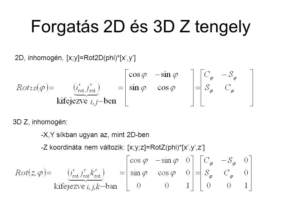Forgatás 2D és 3D Z tengely
