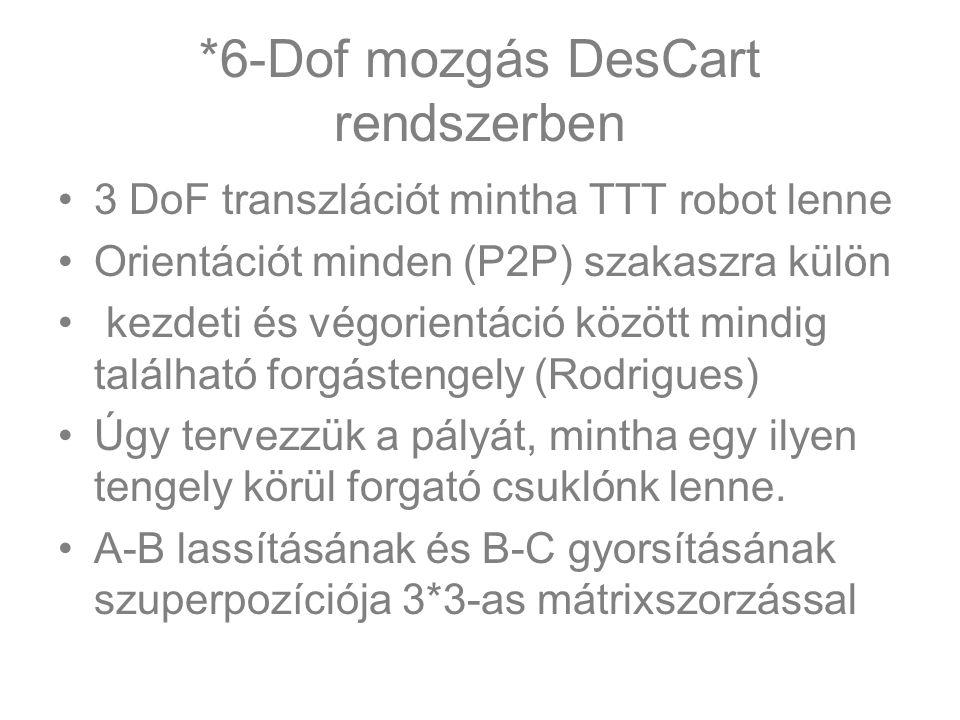 *6-Dof mozgás DesCart rendszerben
