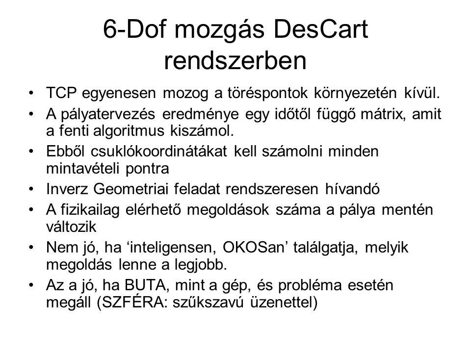 6-Dof mozgás DesCart rendszerben