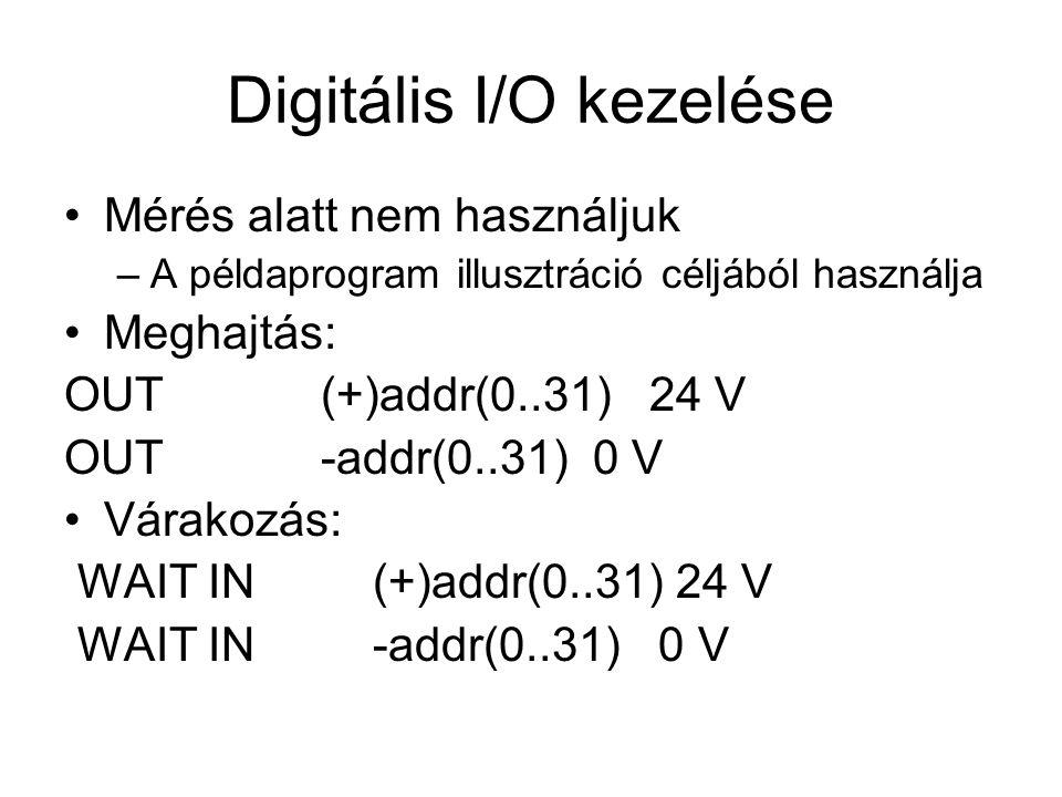Digitális I/O kezelése