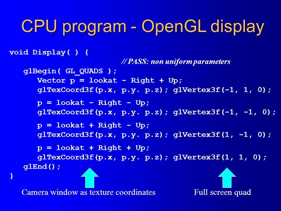 CPU program - OpenGL display