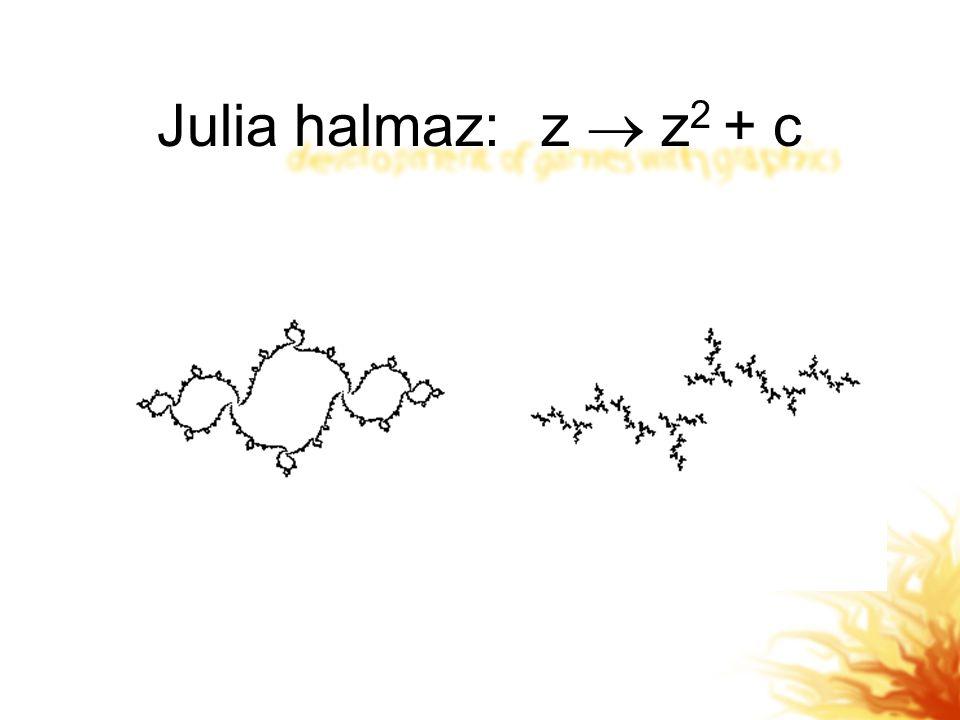 Julia halmaz: z  z2 + c