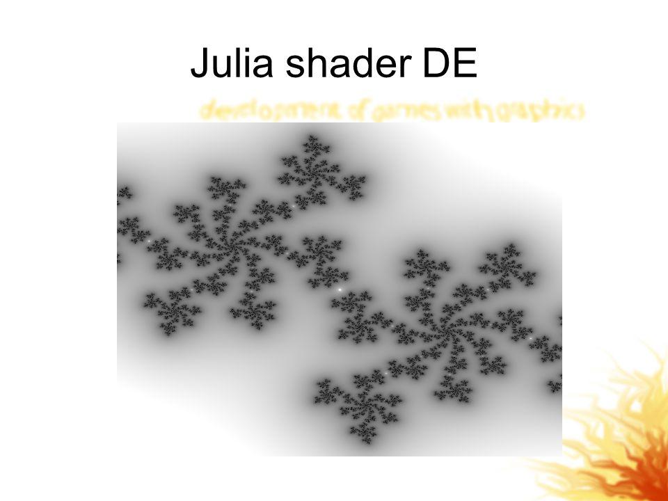 Julia shader DE