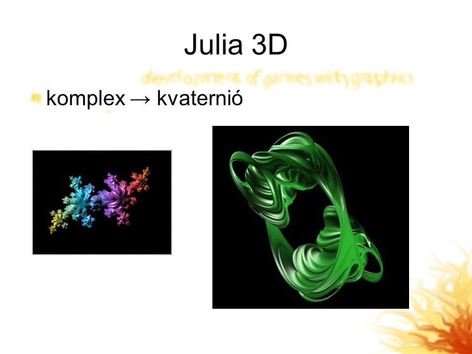 Julia 3D komplex → kvaternió