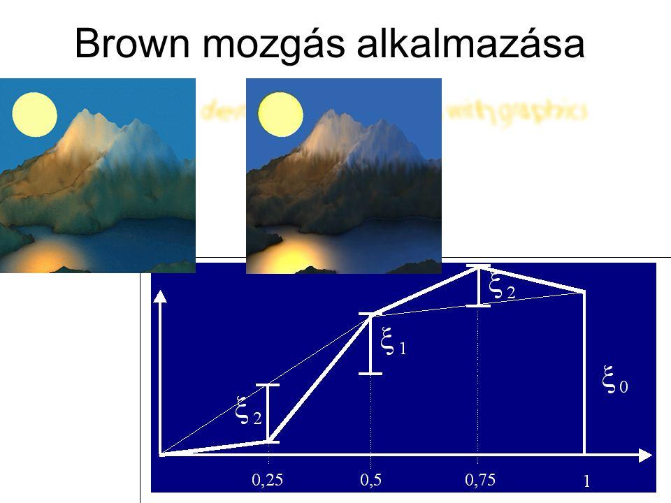 Brown mozgás alkalmazása