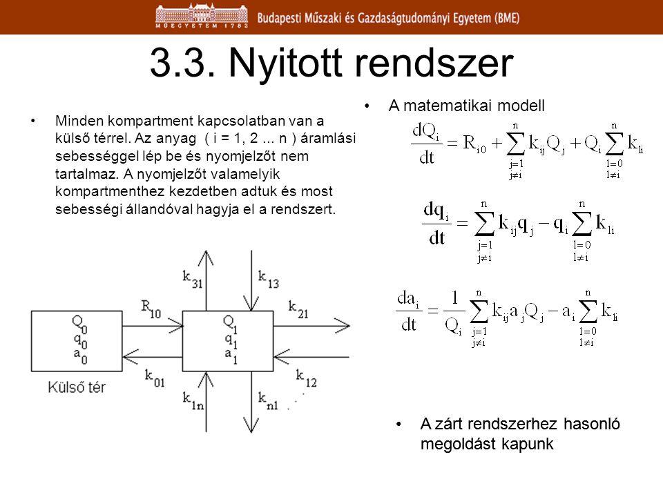 3.3. Nyitott rendszer A matematikai modell