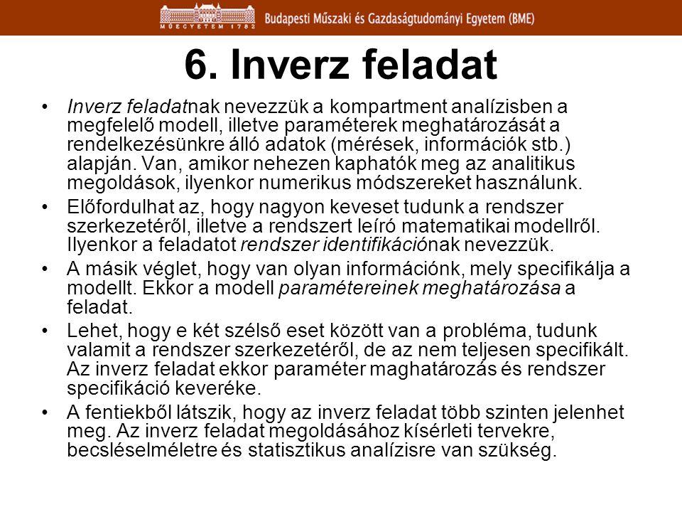 6. Inverz feladat