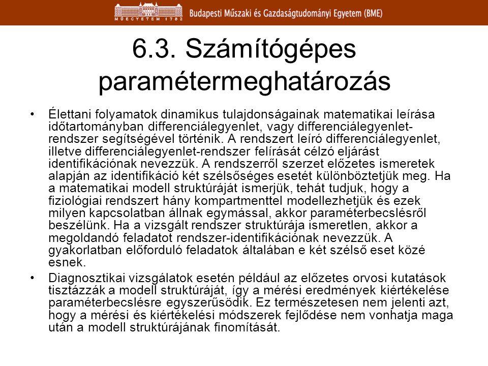6.3. Számítógépes paramétermeghatározás