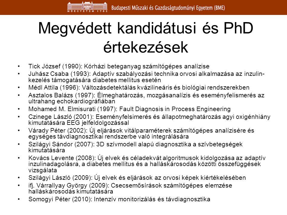 Megvédett kandidátusi és PhD értekezések