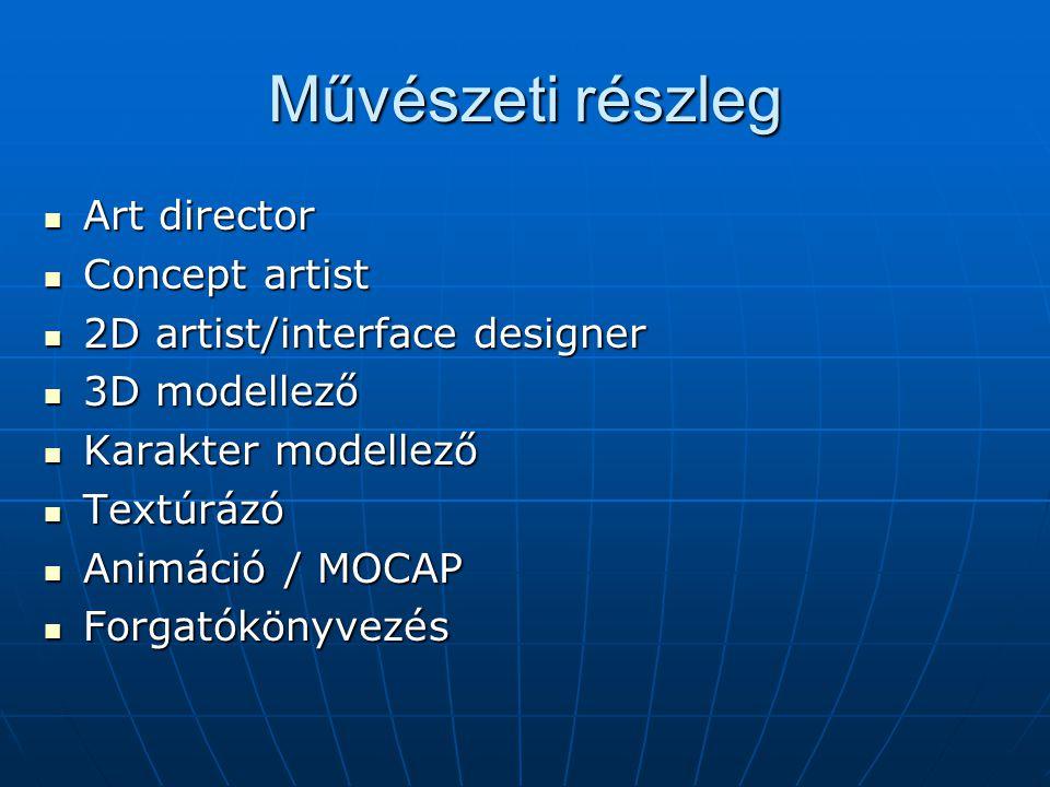 Művészeti részleg Art director Concept artist