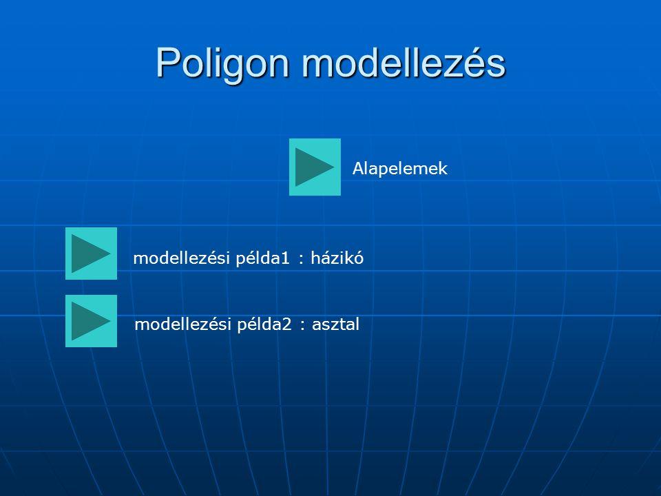 Poligon modellezés Alapelemek modellezési példa1 : házikó