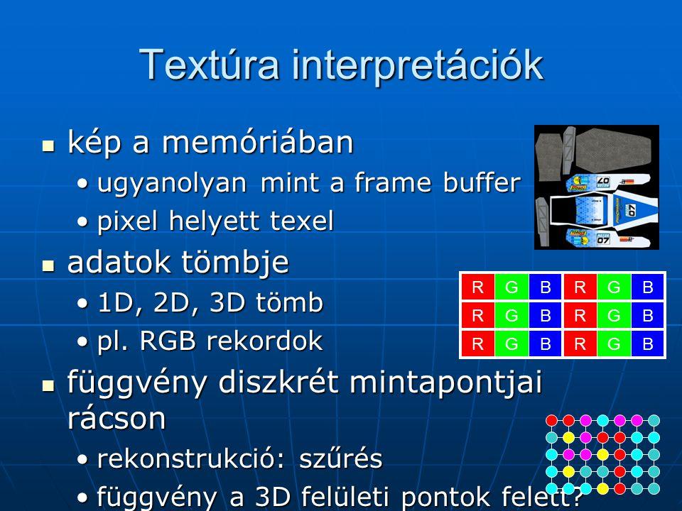 Textúra interpretációk