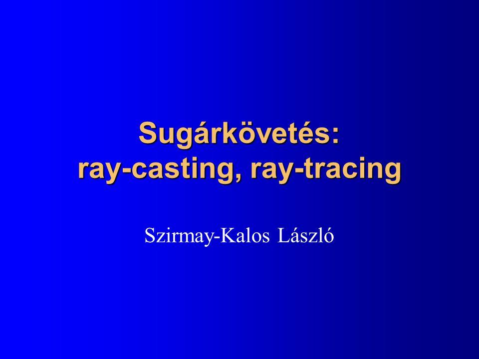 Sugárkövetés: ray-casting, ray-tracing