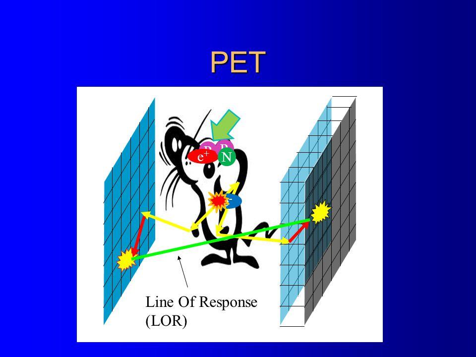 PET Line Of Response (LOR) P P e+ N e-