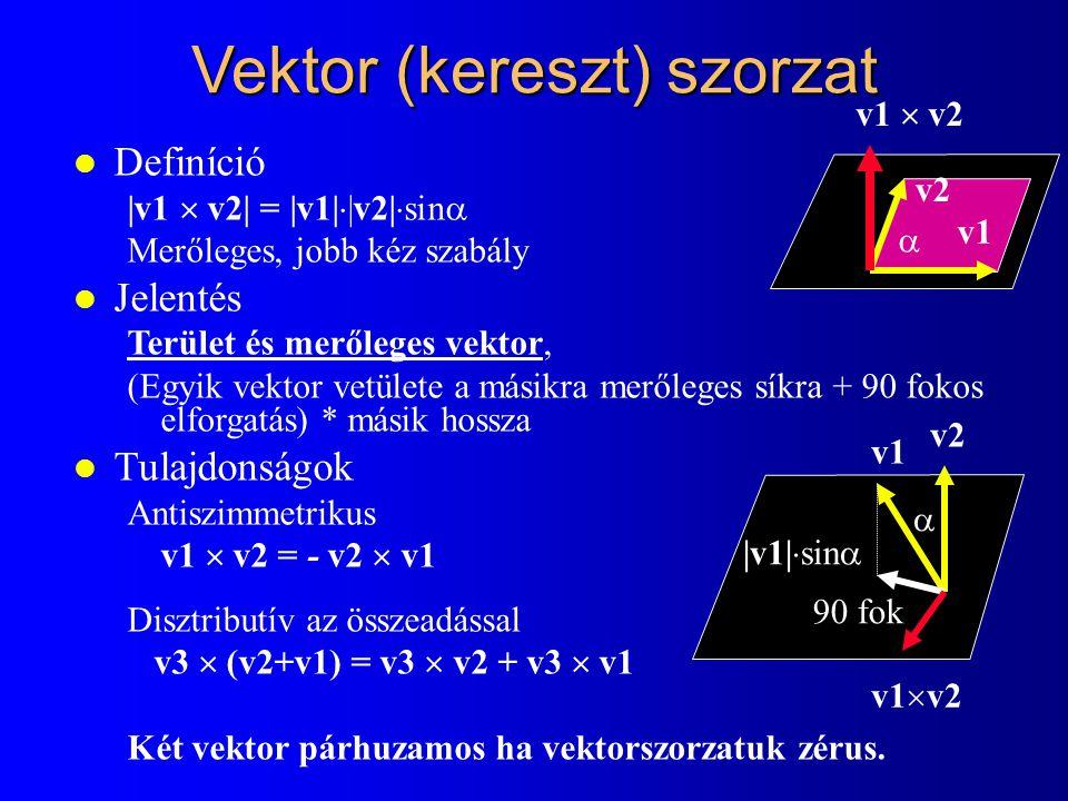 Vektor (kereszt) szorzat
