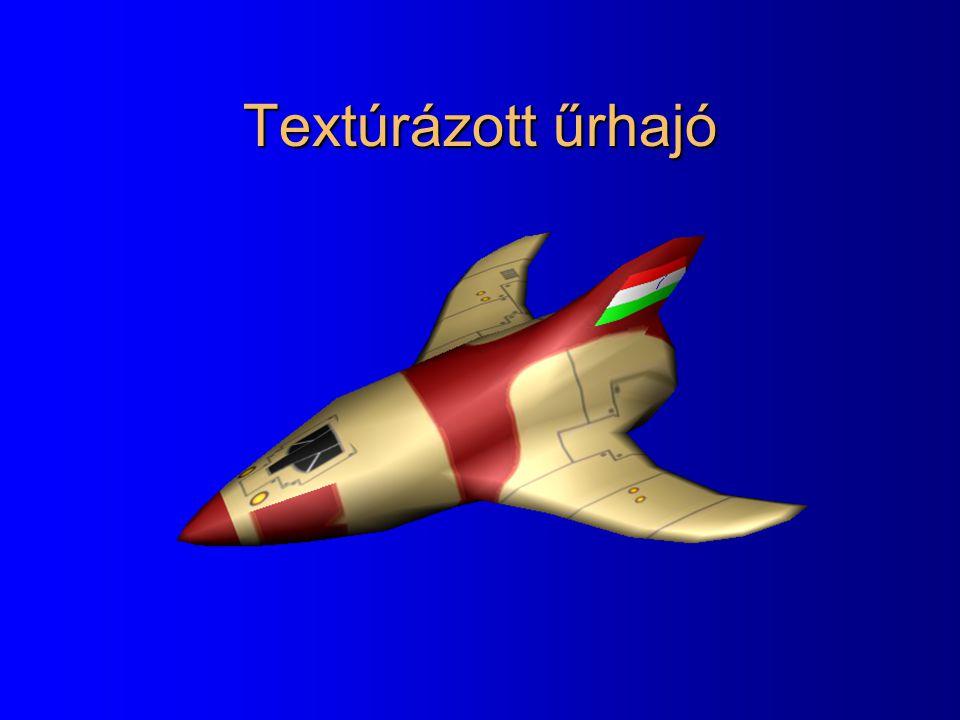 Textúrázott űrhajó