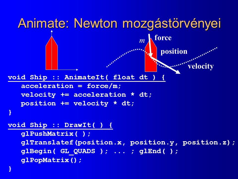 Animate: Newton mozgástörvényei