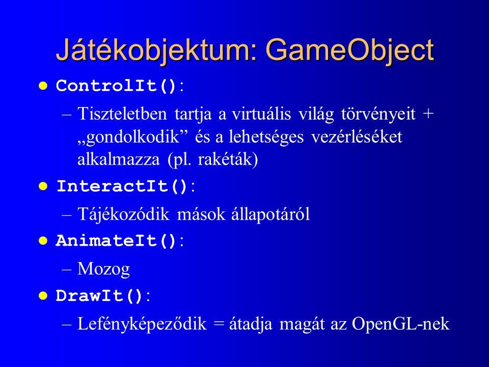 Játékobjektum: GameObject