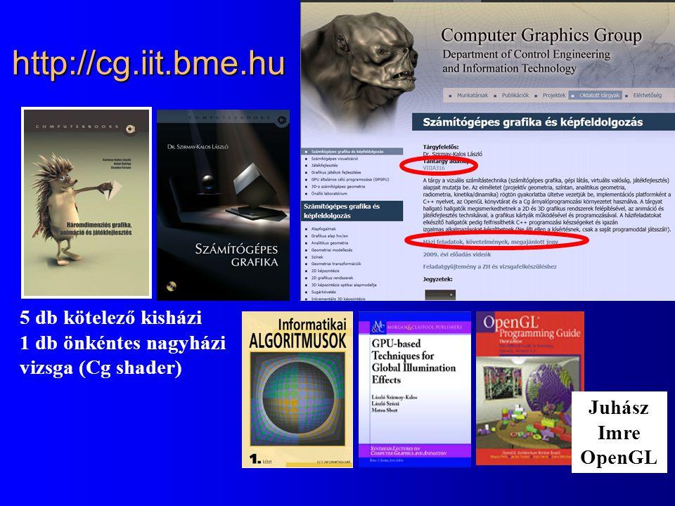 http://cg.iit.bme.hu 5 db kötelező kisházi 1 db önkéntes nagyházi