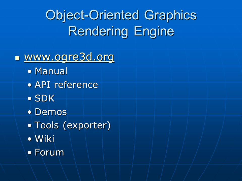 Object-Oriented Graphics Rendering Engine