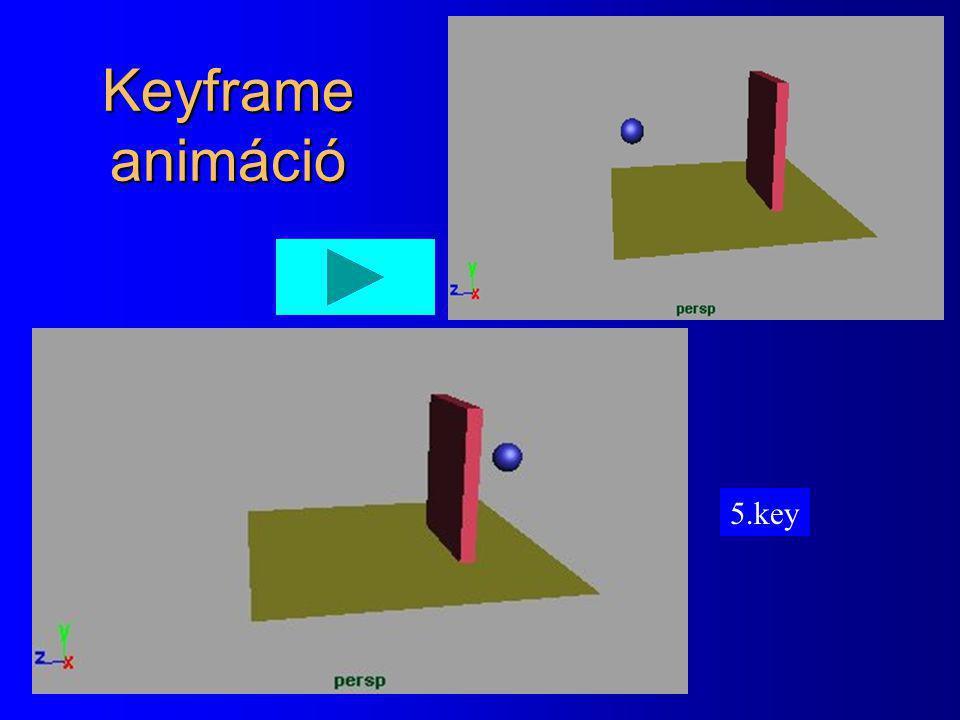 Keyframe animáció 5.key 4.key 2.key 1. key 3.key
