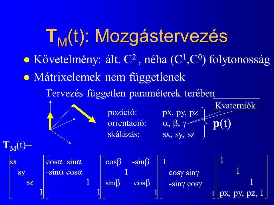 TM(t): Mozgástervezés