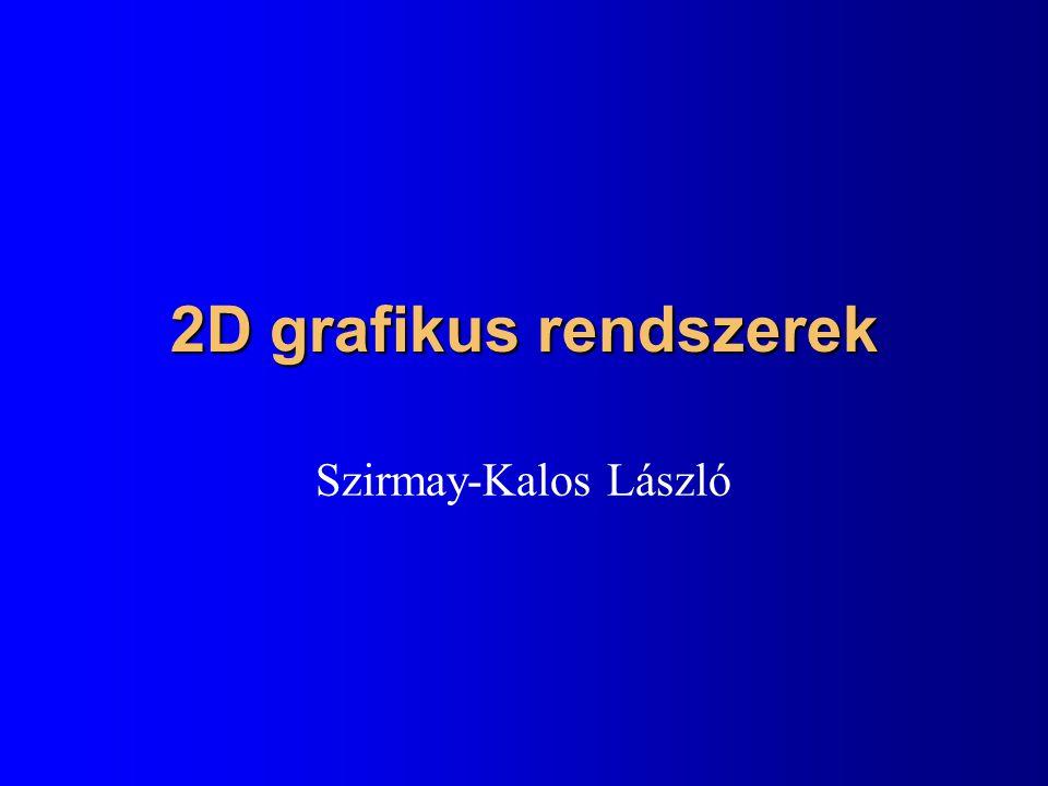 2D grafikus rendszerek Szirmay-Kalos László