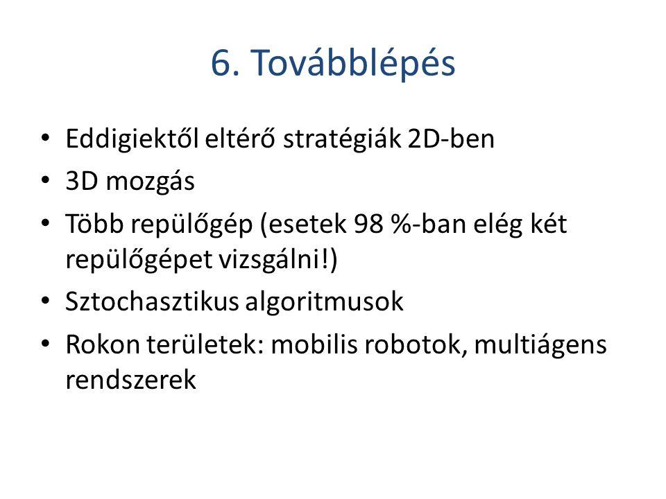 6. Továbblépés Eddigiektől eltérő stratégiák 2D-ben 3D mozgás
