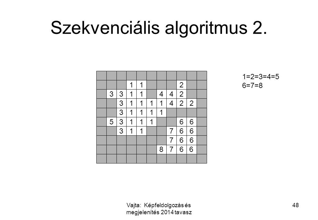 Szekvenciális algoritmus 2.