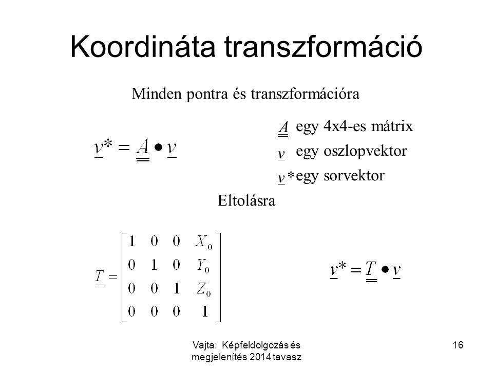 Koordináta transzformáció