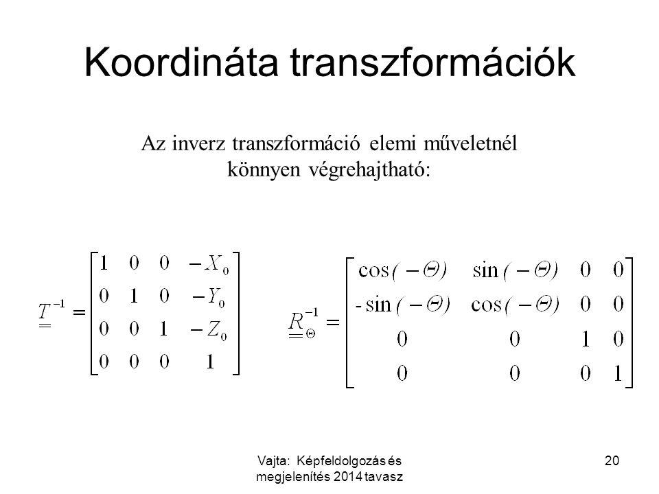 Koordináta transzformációk