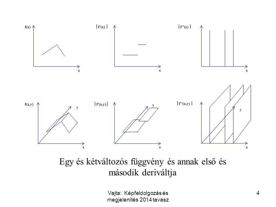 Egy és kétváltozós függvény és annak első és második deriváltja