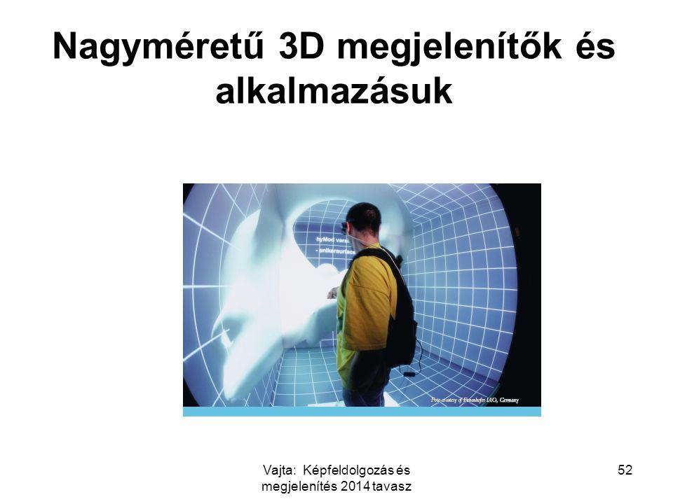 Nagyméretű 3D megjelenítők és alkalmazásuk