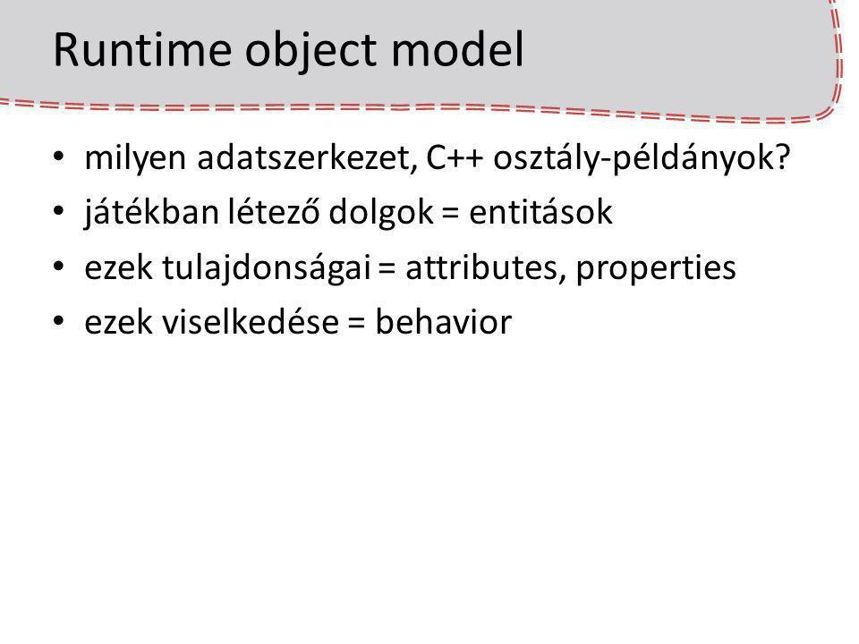 Runtime object model milyen adatszerkezet, C++ osztály-példányok