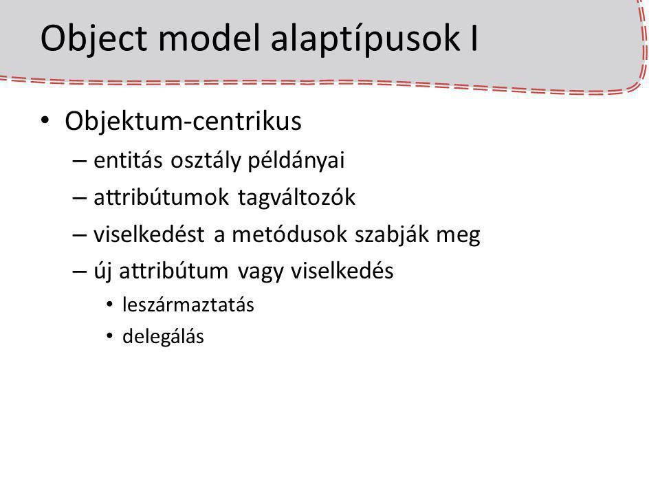 Object model alaptípusok I