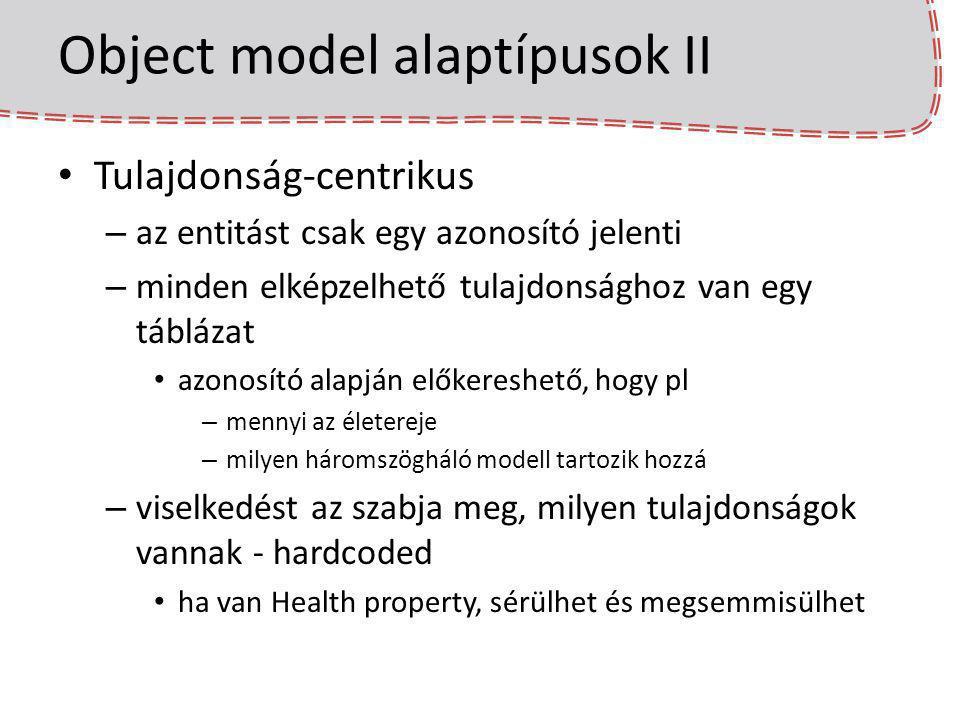 Object model alaptípusok II