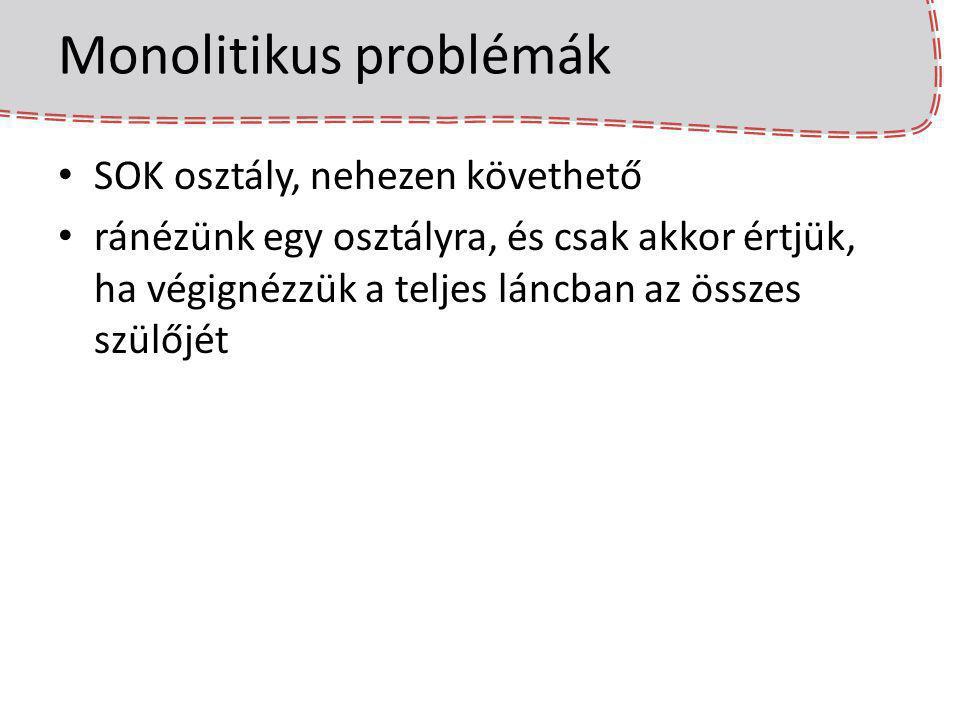 Monolitikus problémák