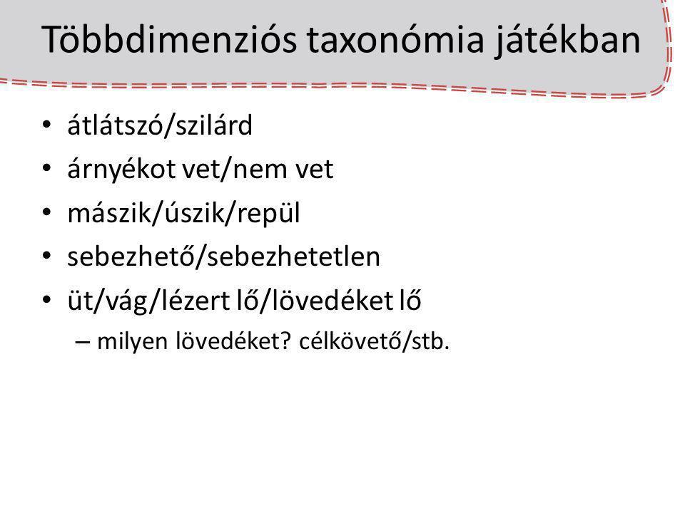 Többdimenziós taxonómia játékban