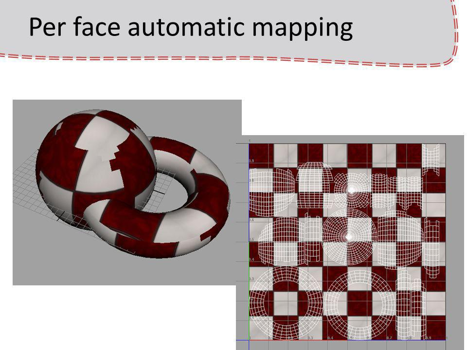 Per face automatic mapping