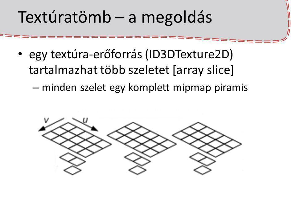 Textúratömb – a megoldás